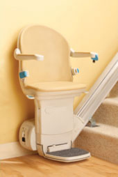 Stairlift for a straight staircase